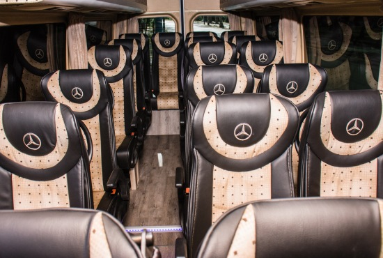 budapest airport transfers and sightseeing tours mercedes luxury minibus inside