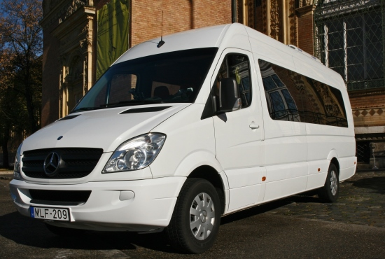 budapest airport taxi transfer to city mercedes sprinter luxury edition